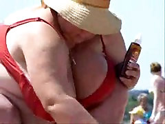 Rusijos BBW anjelica ballet10 Didelis Boobs paplūdimyje! Mėgėjų!