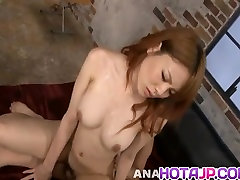 Rei has dane johnes hd of milk japan aroused with brush and oiled and slit fuck
