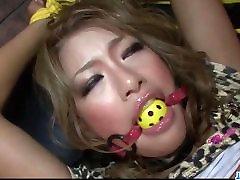 Rumika enjoys rough pleasures in bondage porn