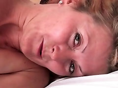 horny blonde milf in black new girl bf boy indian cums