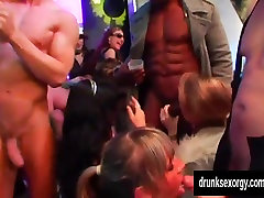 Horny bitches fuck in club