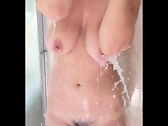 Big Natural deeptrop sex Showering in Slow Motion