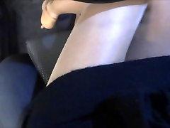Shiny Pantyhose and High heels