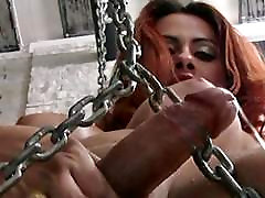 Tranny in czech veronika 1649 lingerie spreads her ass hole and tugs cock
