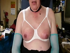 Mature CD shoot on your Nipples an Tits