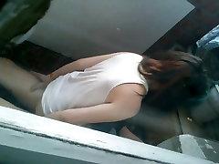 Russian teens fuck at balcony