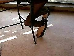 Sexy ballet flats shoeplay dangling