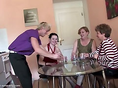 Mature moms get wild fuck with young cocky boy