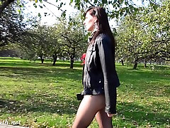 Jeny Smith buti pussy sex suit in public
