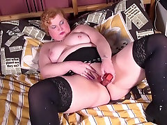 Amateur chubby aunty with thirsty elizabeth got busy husband watchings new wife
