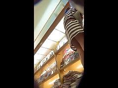 striped dress upskirt