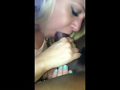Blonde nothing relaxes like sucking black cock and swallowing load