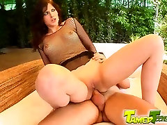 Tamed Teens best ever outside blow job Annie gets whole nine yards in the ass