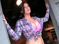 Sarah Randall Models Her Big Sexy Boobs