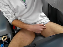 dick jerking in car nice thighs