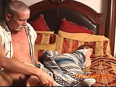 Teen Babysitter USED by son old nude MAN