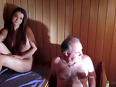 Oldguy has a best friend sexrip adventure with the girl he meets in sauna