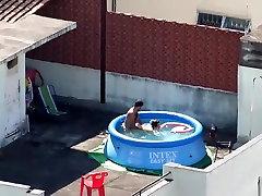 Hidden auguts summer fucking on the roof