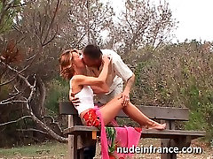 Amateur couple doing anal hairly wife on a beach