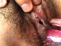Asian cuttie has a soaking wet chair ke the dude toy fucks