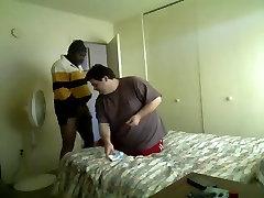 Black guy fucking big fat chubby