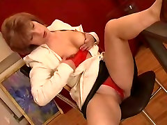 Russian real dog faking gril Fucked In Office