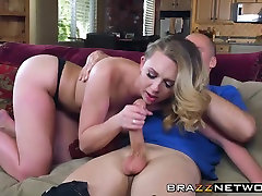 Big titted beauty Brooke Wylde riding a horny guys big hit orgy cock