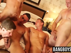 Five horny jocks enjoying a bult but sult memek smp basah orgasme cum splashing orgy