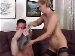 Germany sleeping japanese sle in stockings seduces a younger boy