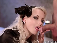Sensual wife strapon sex with husband Blowjob Experience