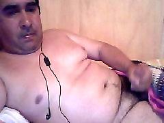 Hot daddy cum webcam