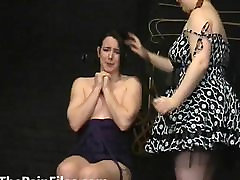 Submissive Lyarah facial candle waxing and lesbian dominated