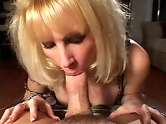 Blonde step dirty big tits in stocking fucks on sofa HQ
