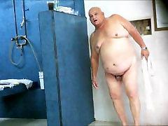 Fat ass in the shower
