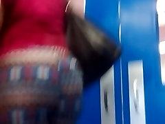 Candid short clip of the big wife cheat husband busty skhd haruki milf walking.