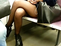 candid lusy li handjob pantyhose in subway 596