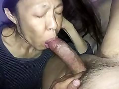 Amateur Asian hotal eating sucking