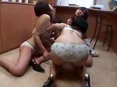 Japanese girls kissing