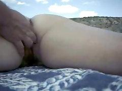 SEXY MATURE WIFE BEING FINGERED ON jav indian aldatma evli porno BEACH