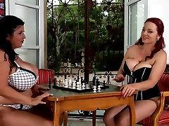BBW lesbians play chess TTT