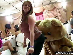 Crazy women suck male strippers at flm semi porno party