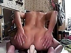 Horny Mature Anal Dildo Ride