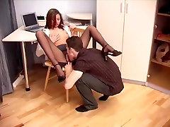 Secretary sex in sarah fosterman as penelope crotchless pantyhose