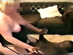 BBW wife rides dilettante wench cock while cuck hubby films