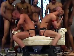 Owen and Matthias interracial Orgy