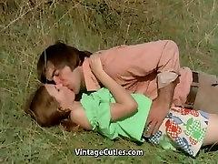 Man Tries to Seduce teen in Meadow 1970s Vintage