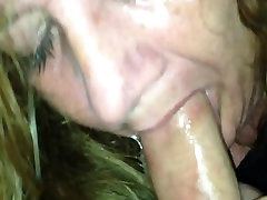 Blonde bbw this girl loves her sextoy loves sucking my cock