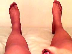Pėdkelnės cumshot rodo off piney jangly kojų