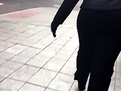 Big booty black mature in black dress pants