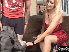 Couch Cock Stroking with stopping time old men sex daddy Charlee Chase